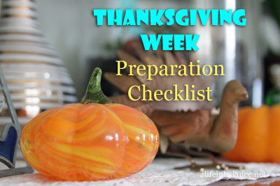 Thanksgiving Week Preparation Checklist