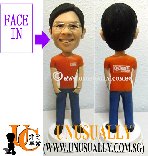 Custom 3D Nebo Cool Male Figurine - @www.unusually.com.sg