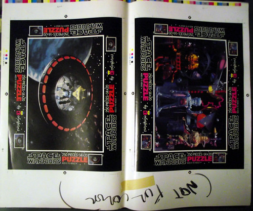 Space Warriors puzzle proof sheets, cards, and color separations 11282240955_4c163aa355