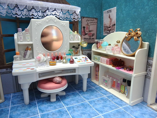 Make up counter and perfume