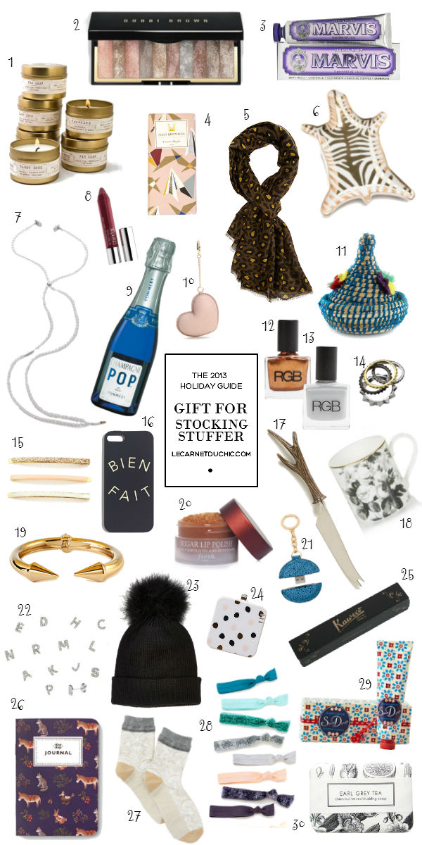 GIFT GUIDE : stocking