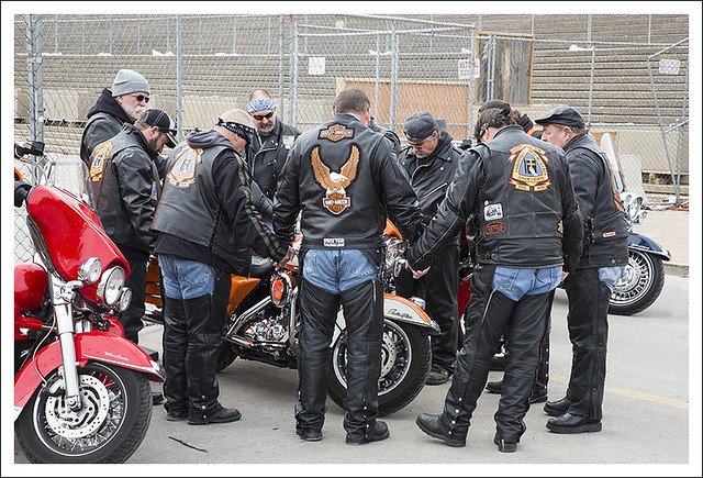Bikers Praying