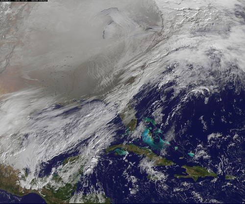 Satellite Image Shows Entry of the Polar Vortex into the Northern U.S.