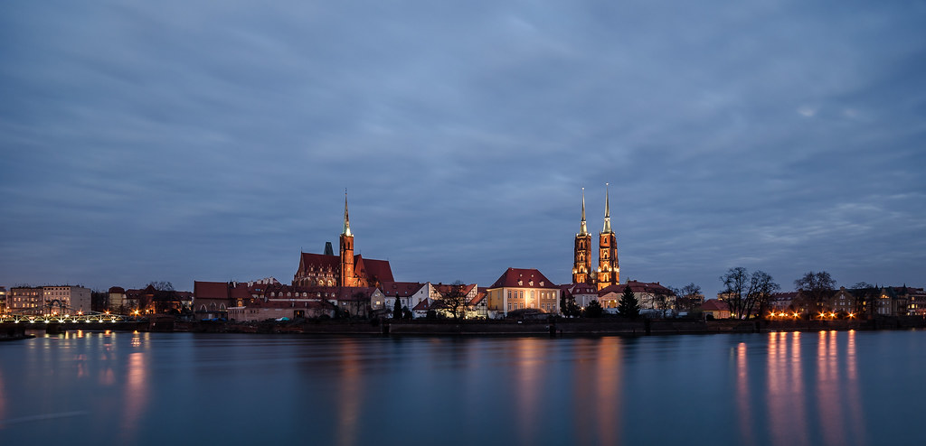Wroclaw night panorama