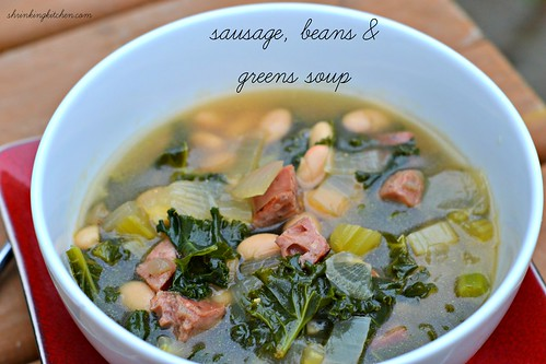 sausage beans greens