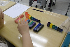 What fraction did you model that is equivalent to 3/4? Students use fraction towers to compare fractions and find equivalent fractions. (March 2012, Gr 4)