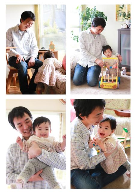 家族写真 出張撮影 ロケーション撮影 愛知県岩倉市 ご自宅 五条川 子供写真 屋外撮影