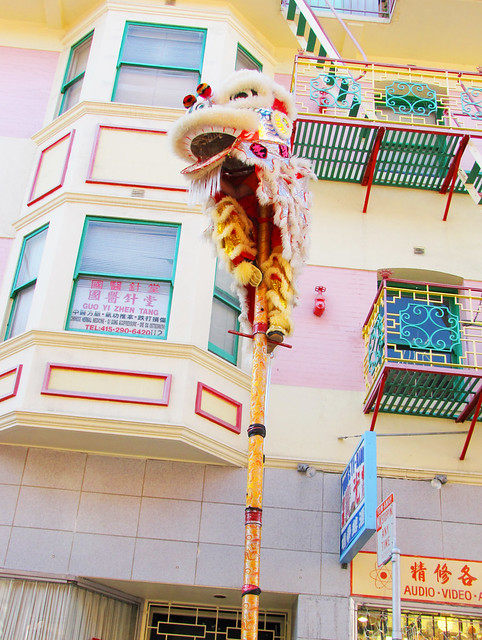 Chinese Lion Dance on Stilts