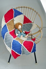 wood & wool harlequin blanket 069