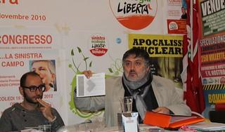 Modesto De Girardis sventola il programma di Vitto sel polignano