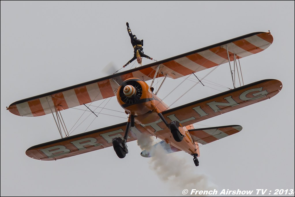 Breitling Wing walkers,Salon du Bourget 2013,Paris Airshow 2013