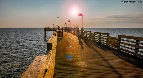 sun pier 100v10f beaches sunburst fishingpier blindpass gf1 fav10 views200 beachphotography sunsetmadness sunsetsniper