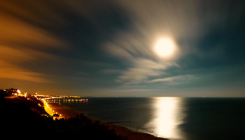Full moon over bournemouth.