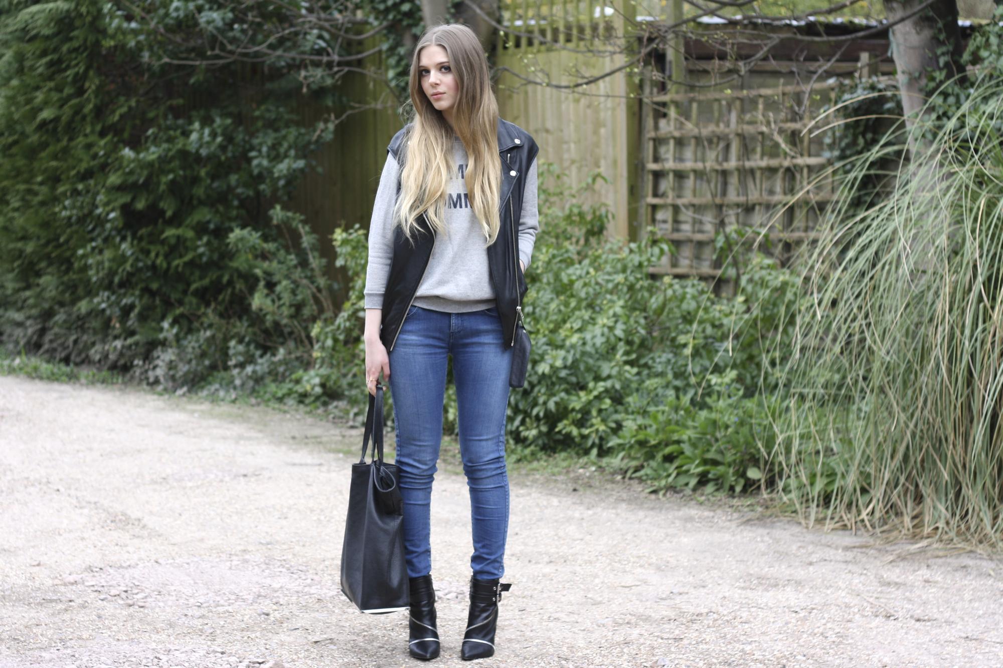 Zara blue skinny jeans3