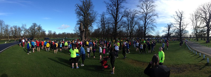 Bushy parkrun start area