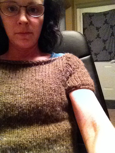 Handspun hand knit sweater.