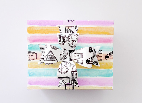watercolour gift wrap