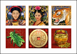 free Tiger Moon slot game symbols