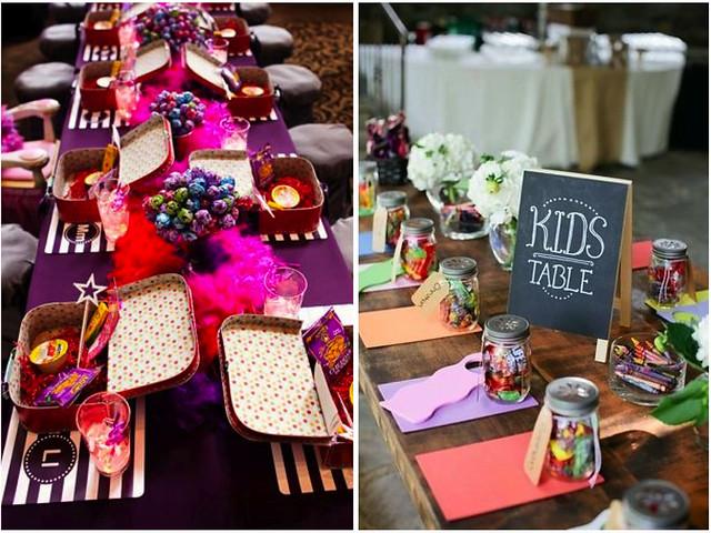 Decoracion mesas infantiles boda