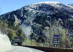 Mt de la Saxe landslide