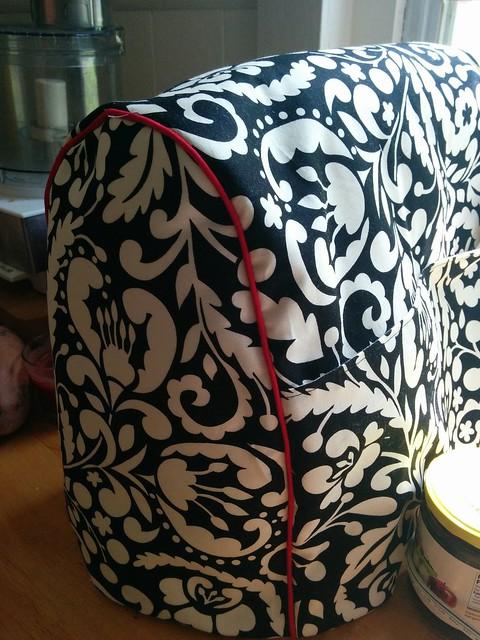 KitchenAid mixer cover, close up