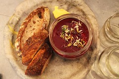 Beetroot & fennel soup at Silo Brighton