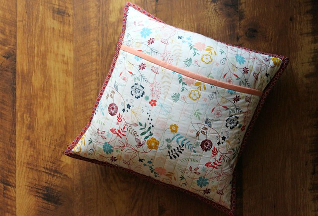 Stripe Pillow from Scraps