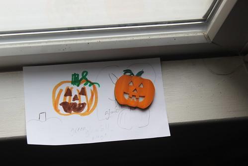 3D Printing - Glowing Pumpkin Pendant - Sketch and Final (Far)