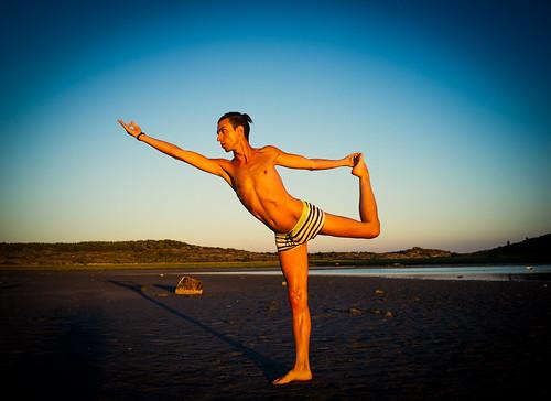 balancing pose