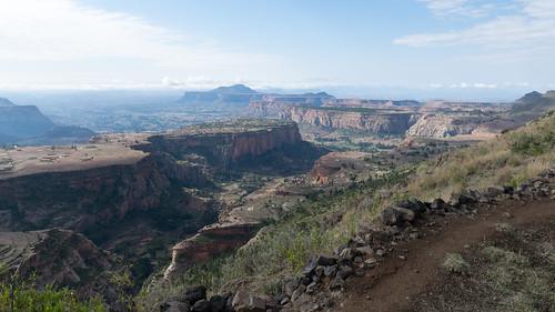 ethiopia tigray trekking hiking landscape canyon