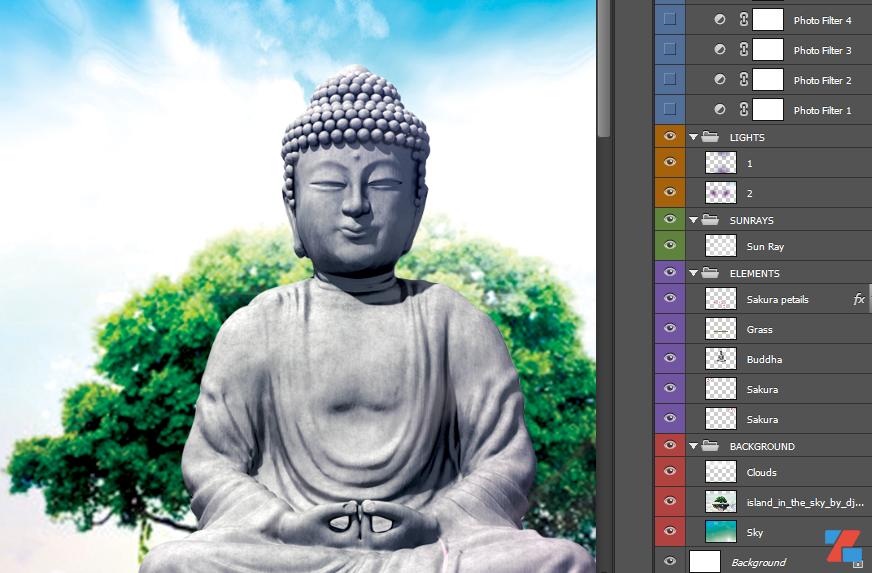 PSD Tượng Phật Đá