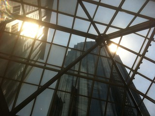 Boston - Prudential Mall - The Sun reflection off the Building