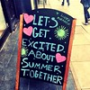 Bon d'accord. On s'excite!!! Youpi #summer #sign #london