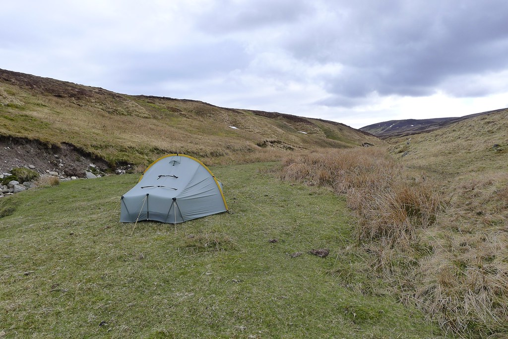 Camping by the Allt Mor