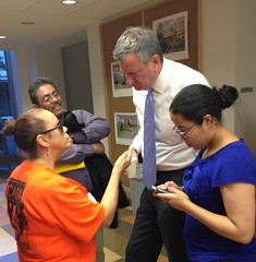 De Blasio at CASA-New Settlement People's Hearing