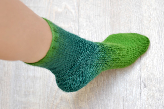 Green Basic Socks