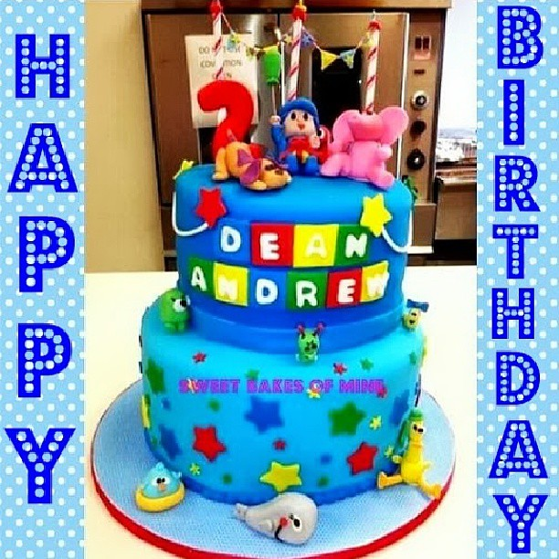 My Pocoyo Cake I Made For A Very Special 2 Year Old Little Boy