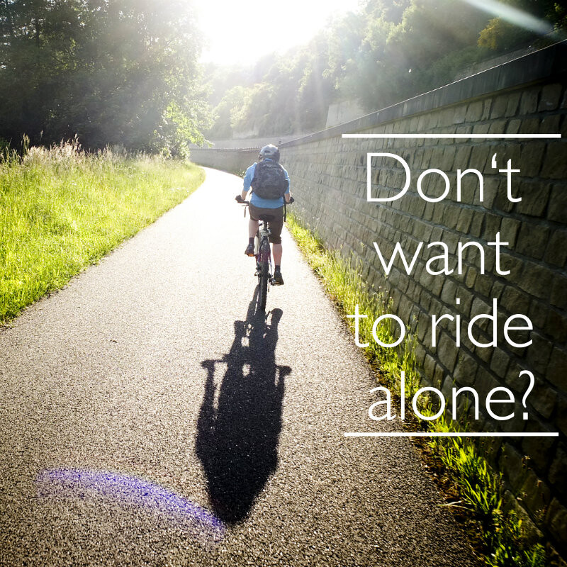 Don't want to ride alone?