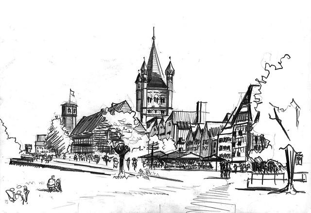 Köln Rheinufer Groß St. Martin