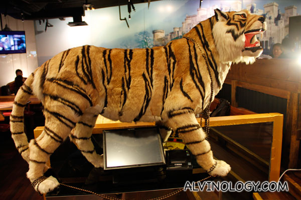 Decorative plush tiger