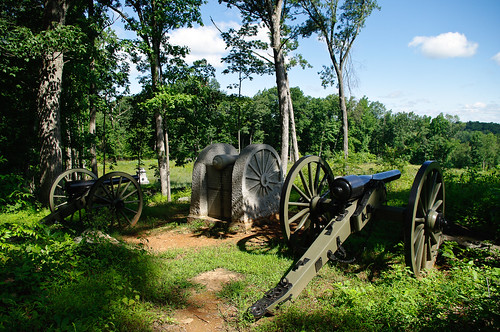 Battery E, Knap's Pennsylvania Light Artillery monument on Power's Hill