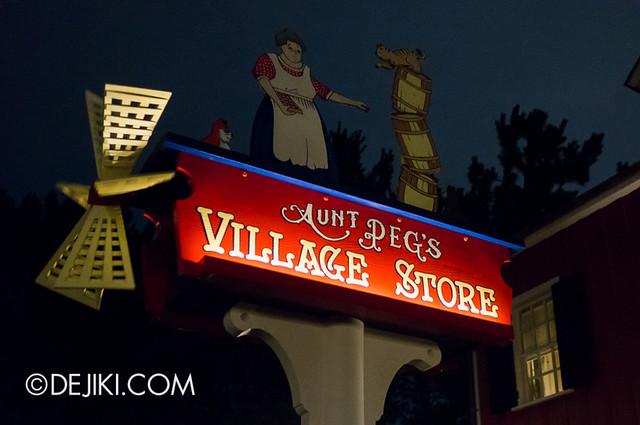 American Waterfront - Cape Cod Village - Aunt Peg's Village Store sign