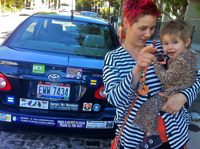 An artist and her bumper stickers