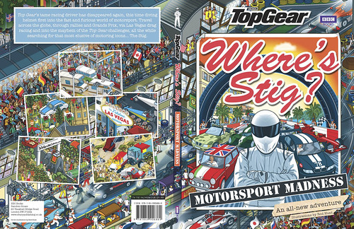 Top Gear - Where's Stig? Motorsport Madness - illustrated by Rod Hunt