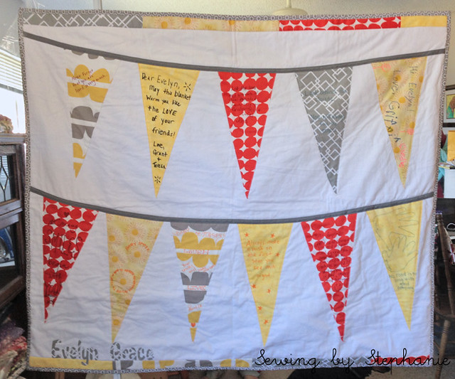 Guest Book Bunting Quilt