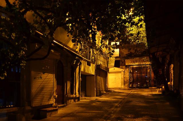 Calles de Estambul en la noche