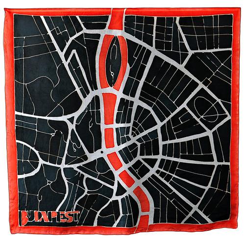 budapest-selyemkendo-fekete