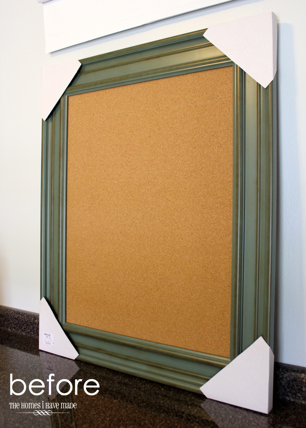 Gold-Striped Cork Board 2