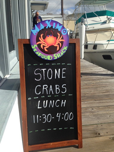 Stone Crab Sign at Maximo Seafood Shack, St. Petersburg, Florida