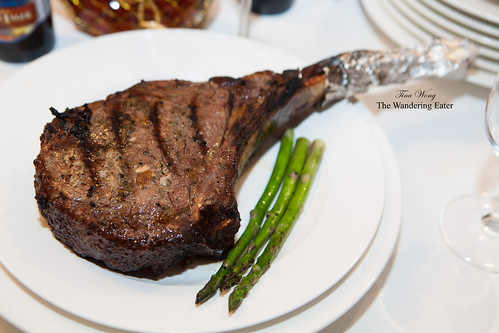 Grilled Pat LaFrieda tomahawk ribeye steak